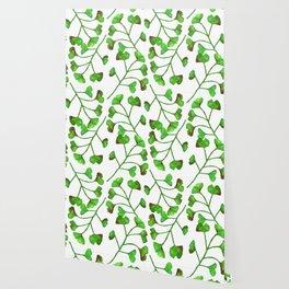 Ginkgo Leaves Watercolor Wallpaper