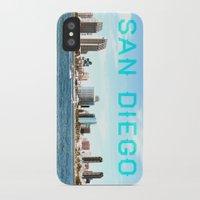 san diego iPhone & iPod Cases featuring San Diego  by Natasha Alexandra Englehardt
