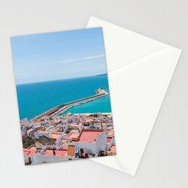 Wallpaper Spain Peniscola Sea Berth Houses Cities Pier Marinas Building Stationery Cards