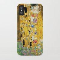 gustav klimt iPhone & iPod Cases featuring Gustav Klimt The Kiss by Art Gallery