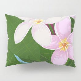 Key West - White Plumeria Pillow Sham