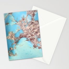 Rugged Turquoise Nugget Stationery Cards