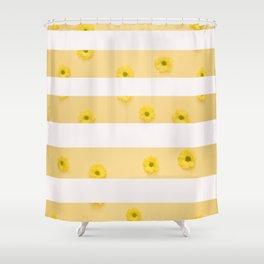 floral stripes v2 Shower Curtain