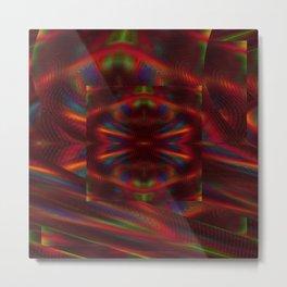 Cosmic Spiral Vortex Mirror Metal Print