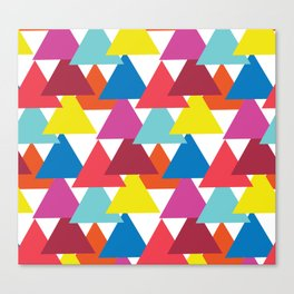 Mexican Streets Triangle Abstract Canvas Print