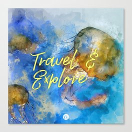 Travel and explore Canvas Print