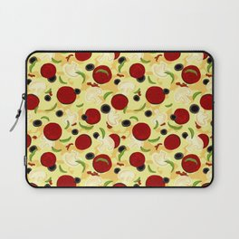 Pizza Toppings Pattern Laptop Sleeve