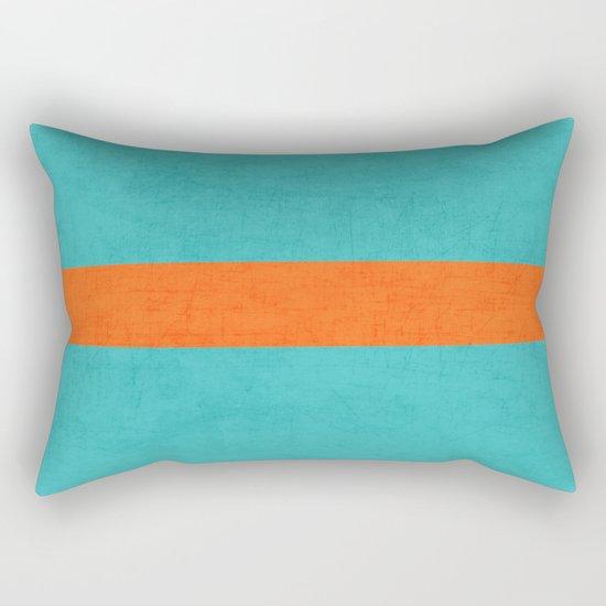 aqua and orange classic Rectangular Pillow