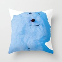 snowman Throw Pillows featuring Snowman  by AstridJN