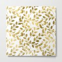 Gold Leaves on White by followmeinstead
