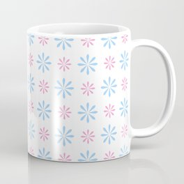 geometric flower 87 blue and pink Coffee Mug