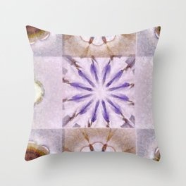 Faience Entity Flowers  ID:16165-051910-13480 Throw Pillow