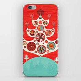 Festive Yule Christmas Tree iPhone Skin