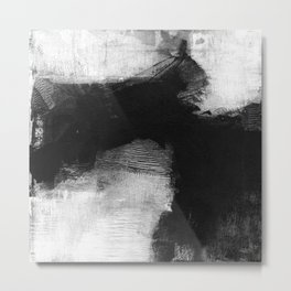 Black and White Minimalist Landscape 2 Metal Print