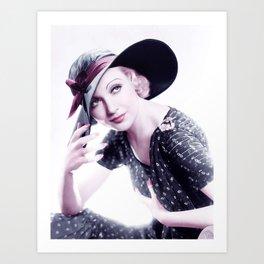 Carole Lombard Infrared art by Ahmet Asar Art Print