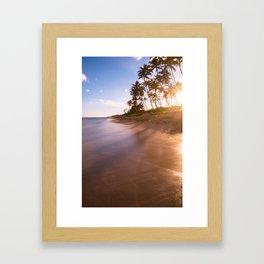 ankle deep in long exposures Framed Art Print