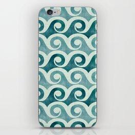 Vintage Waves - Tropical Teal iPhone Skin