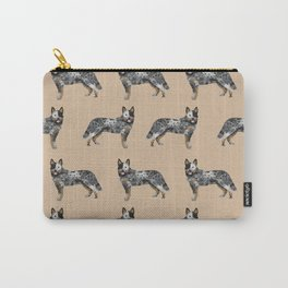Australian Cattle dog must have gifts for cattle dog owners dog breed pet friendly unique dog art Carry-All Pouch