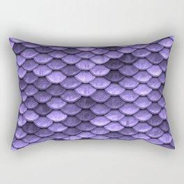 Mermaid Scales Periwinkle Ultra Violet Rectangular Pillow