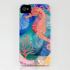 Seahorse collage iPhone (4, 4s) Slim Case