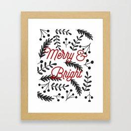 Merry & Bright Framed Art Print