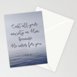 Cast All Your Anxiety on Him Stationery Cards