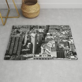 Aerial view of New York from Empire State Building Rug