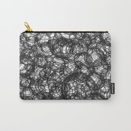 Black Ink on White Carry-All Pouch