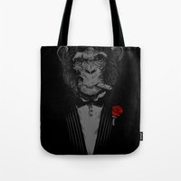 monkey Tote Bags featuring Monkey Business by Alex Solis