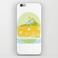 cheese iPhone & iPod Skins featuring Cheese  by Hadar Geva