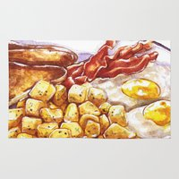 breakfast Area & Throw Rugs featuring Breakfast by heatherinasuitcase