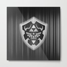 Zelda Shield Triforce Metal Print