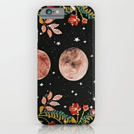 lovely moon cylcle iPhone Case