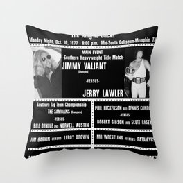 #4-B Memphis Wrestling Window Card Throw Pillow