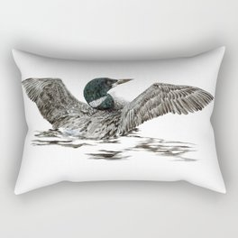 Morning Stretch - Common Loon Rectangular Pillow