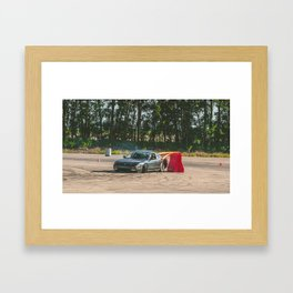 Bumper Kiss Framed Art Print