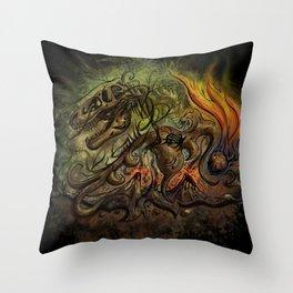 Extinction Chaos Throw Pillow