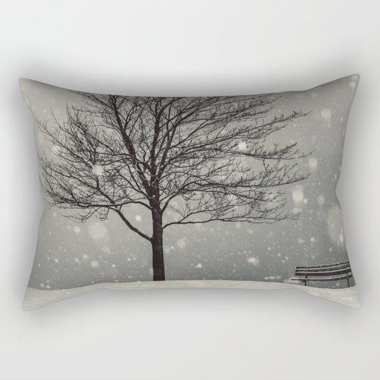 January Snow Rectangular Pillow