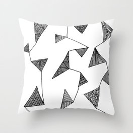 Triangle Barf Throw Pillow