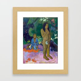 "Paul Gauguin ""Parau na te Varua ino (Words of the Devil)"" Framed Art Print"