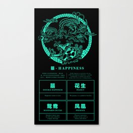Five Fold Happiness - Happiness Canvas Print