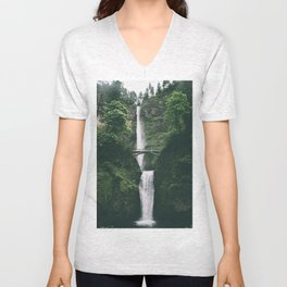 Multnomah Falls III Unisex V-Neck