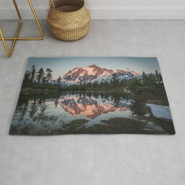 Cascade Sunset - Mt. Shuksan - Nature Photography Rug