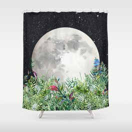 Night Garden Moon Magick Shower Curtain