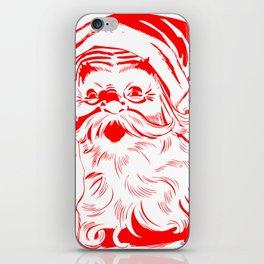 Red Old School Santa (Color) iPhone Skin
