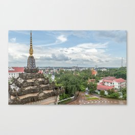 View of the City from Patixai IV, Vientiane, Laos Canvas Print