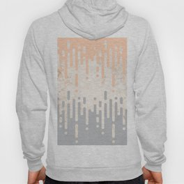 Marble and Geometric Diamond Drips, in Grey and Peach Hoody