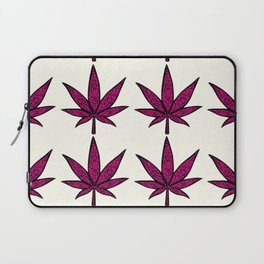 Filigree Floral Cannabis Leaf- 4x4 tile Pink Laptop Sleeve