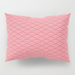 Japanese Sakura Koinobori Fish Scale Pattern Pillow Sham