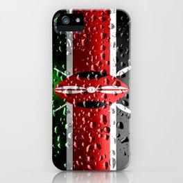 Flag of Kenya - Raindrops iPhone Case